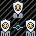 insurance, p2p, p2p insurance, peer, peer to peer insurance icon
