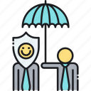 guarantee, insurance, protection, reinsurance icon