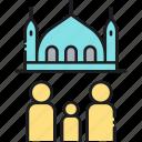 masjid, mosque, pray, prayer, takaful, takaful insurance icon