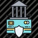 credit, insurance, trade, trade credit insurance icon