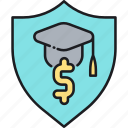 education, insurance, tuition, tuition insurance icon