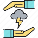 insurance, weather, weather insurance icon