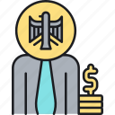 compensation, funding, pay, salary, wages, workers, workers compensation icon