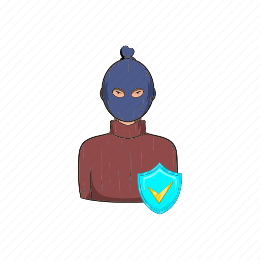 cartoon, criminal, insurance, protection, robbery, security, thief icon