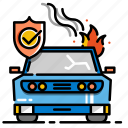 accident, accident insurance, car, damage, insurance, vehicle icon