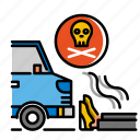 accident, accidental death and dismemberment, car crash, death, dismemberment, insurance icon