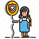assurance, child care, child life insurance, children, insurance, kid, protection icon