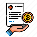covered medical expense, expenses, healthcare, medical, coverage, health, insurance icon