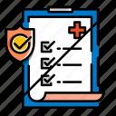 examination, no medical exam, no medical question, non medical insurance, protection icon