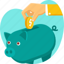 finance, insurance, money, pig, protection, savings icon