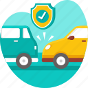 accident, car, crash, insurance, protection, risk icon