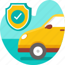 accident, auto insurance, car, insurance, policy, protection, risk icon