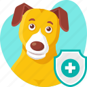 animal, dog, insurance, medical, pet, policy, protection icon