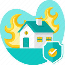 fire, flame, home insurance, house, insurance, protection, real