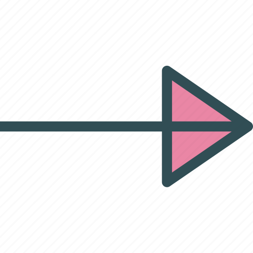 arrows, circle, direction, play, point icon