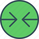 arrowsleft, circle, forward, point icon