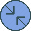 arrowsslash, circle, point icon