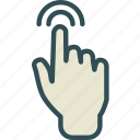 finger, hand, interaction, touchsignal icon