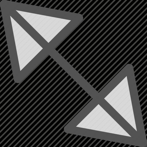 arrow, diago, left, nal, return icon