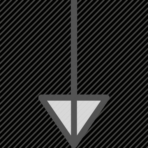 arrow, arrows, circle, down, point icon
