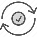 ok, refresh, renew icon
