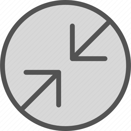 arrowsdbackslash, circle, point icon