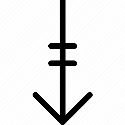arrow, direction, linedown icon