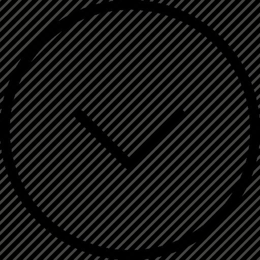 arrow, arrowdown, circle, direction, round icon