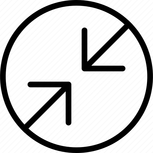 arrowsdbackslash, circle, point icon