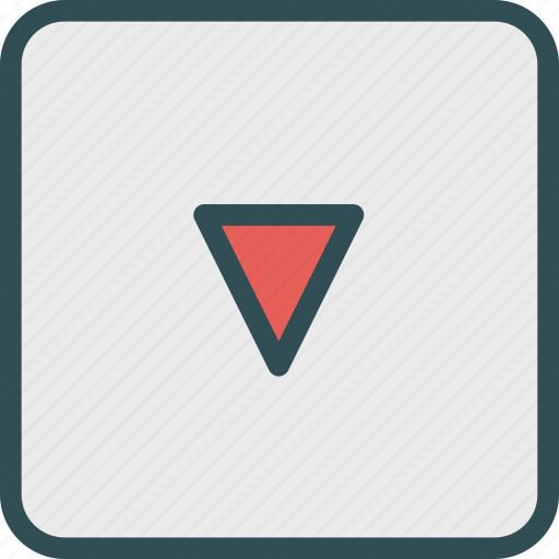 arrow, direction, squaredown icon