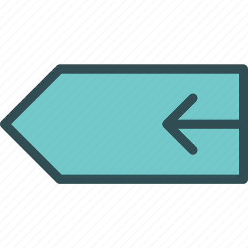 arrow, directionleft, tag icon