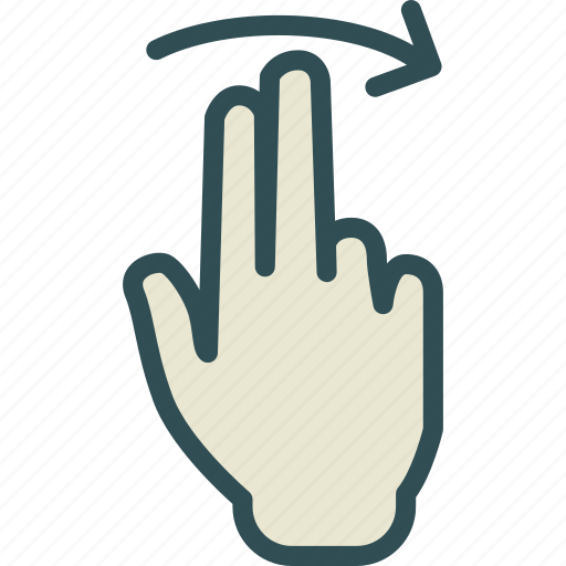 forward, hand, interaction, play, touchright, twofinger icon