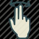 hand, interaction, touchslide, twofinger