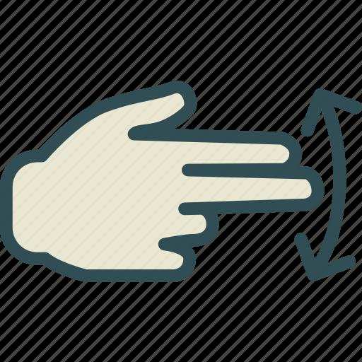 gesture, hand, interaction, touchsswipe, twofinger icon