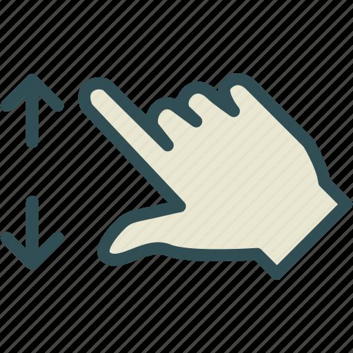 arrow, closeupleft, hand, zoom icon