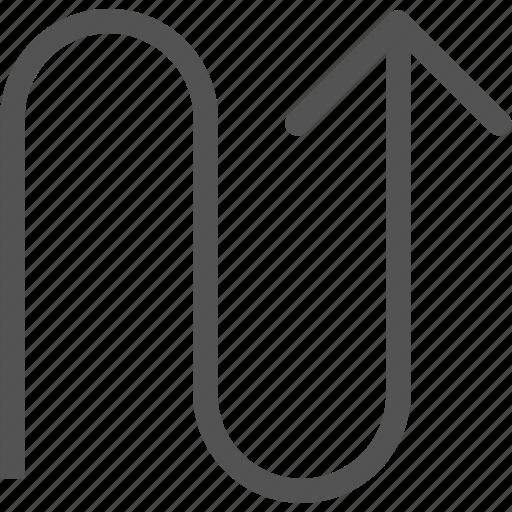 arrow, direction, snake, upload, wayup icon