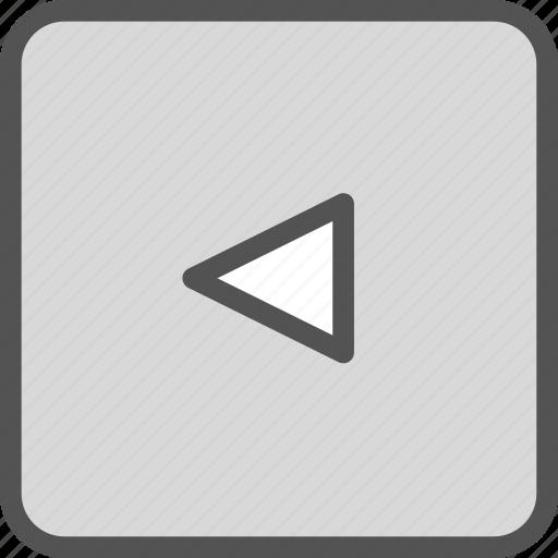 arrow, squareleft icon