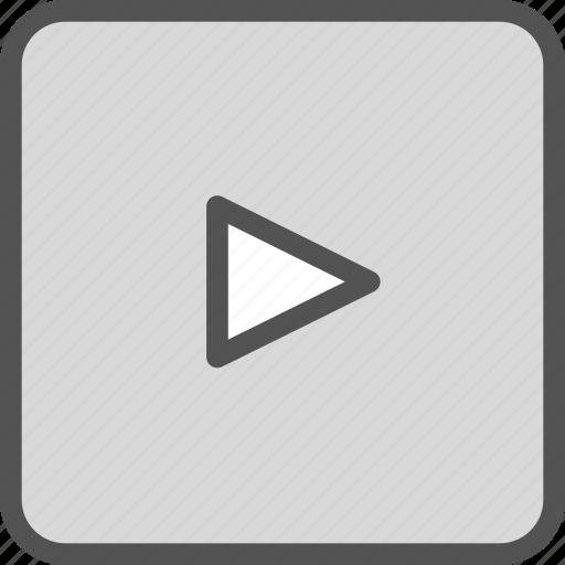arrow, forward, play, right, squareright icon