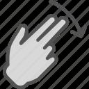 down, hand, interaction, nal, return, touchdiago, twofinger