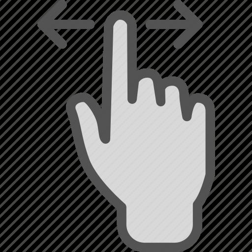 gesture, hand, sides, swipe icon