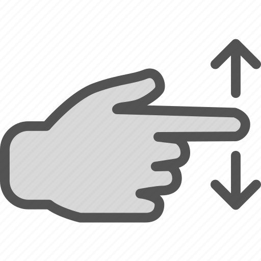 direction, down, gesture, hand, swipe, up, upload icon
