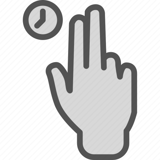 hand, interaction, time, touch, touchshold, twofinger icon
