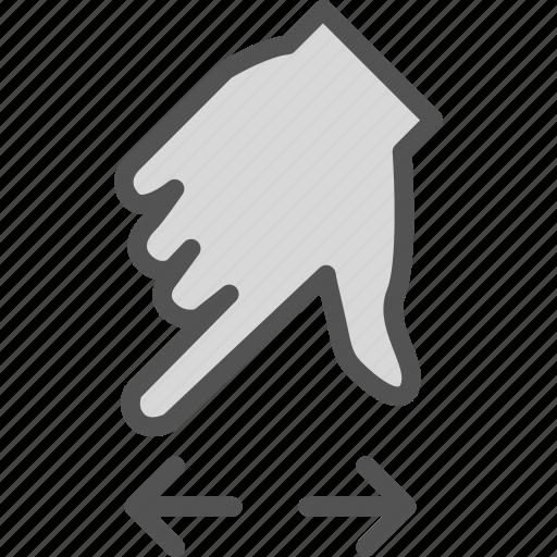 arrow, closeupdown, direction, hand, zoom icon