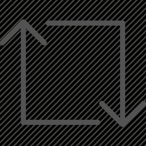 arrows, circle, direction, point, s, squarearrow icon