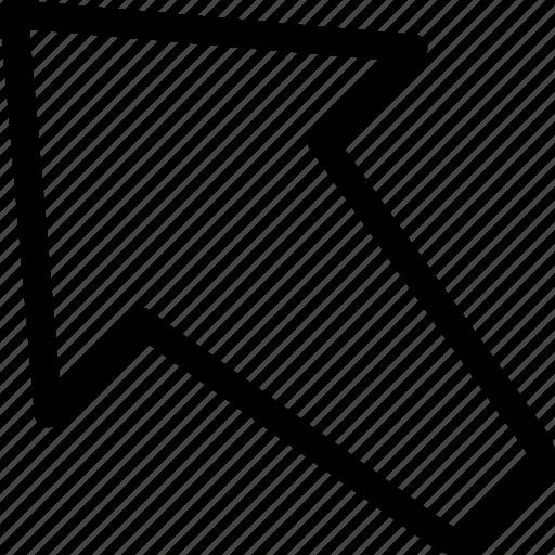 arrow, left, up, upload icon