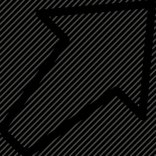 arrow, forward, play, up, upload icon