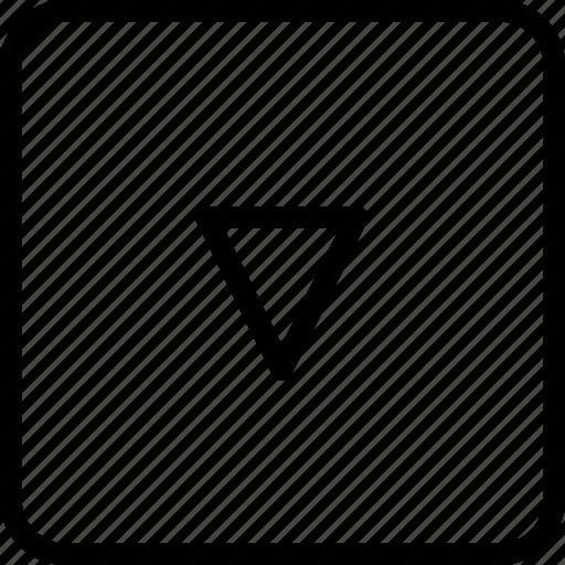 arrow, direction, squaredown icon
