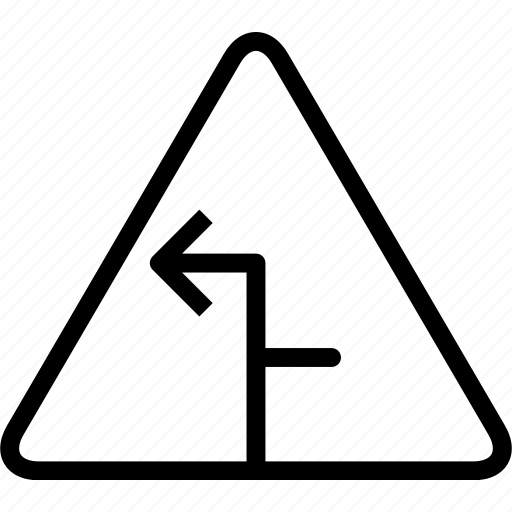 arrow, sign, symbolleft, triangle, warning icon