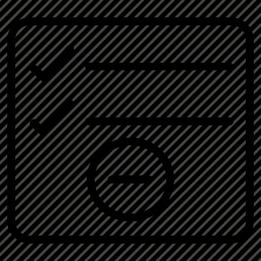 checklist, document, project, remove, tasklist icon