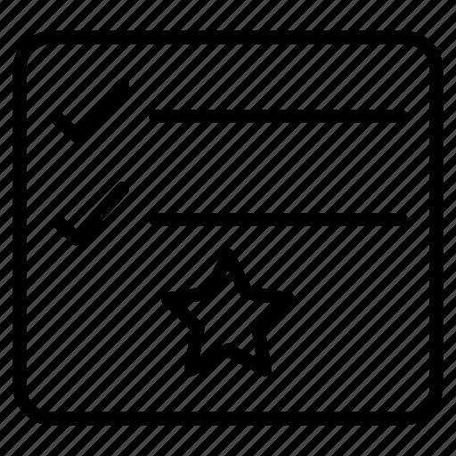 checklist, favorite, project, starred, tasklist icon